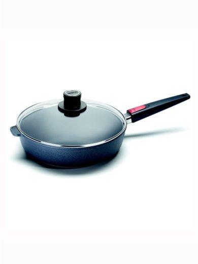 Woll Titanium Nowo Saute Pan 28cm, matching safety glass lid