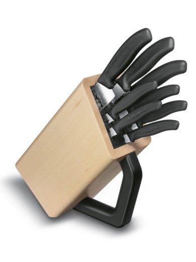 Θήκη μαχαιριών ξύλινη, 8 μαχαίρια Swiss Classic