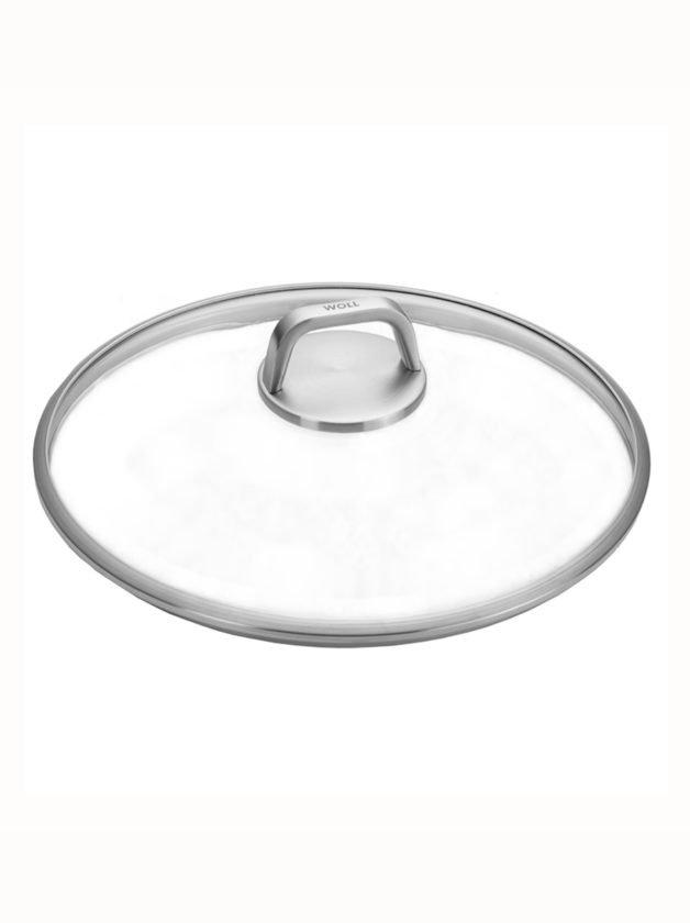 Woll Καπάκι γυάλινο πυρίμαχο βαρέως τύπου με ανοξείδωτη λαβή για τηγάνια και κατσαρόλες 28 cm
