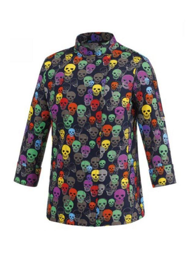 """Μπλούζα Μάγειρα Με Σχέδιο """"Νεκροκεφαλές"""" Woman-Color Skulls"""