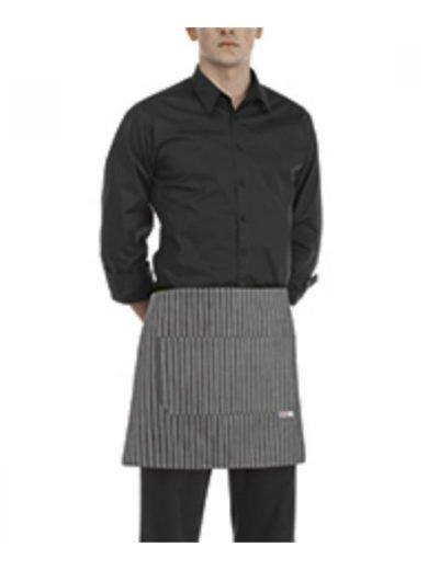 Egochef Ποδιά Μέσης 40x70 εκ New Grey Stripe Γκρί Με Ρίγες