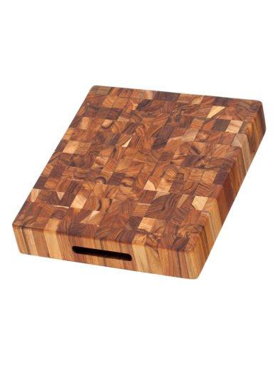 Teak Haus Butcher Ξύλο Κοπής και Σερβιρίσματος με Χειρολαβές 30,5 x 30,5 x 5,1 cm