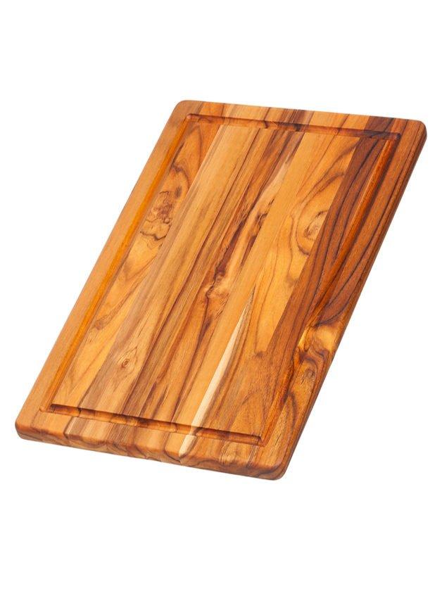 Teak Haus Essential Ξύλο Κοπής και Σερβιρίσματος με Κανάλι Χυμού 40 x 27,4 x 1,4 cm