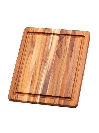Teak Haus Essential Ξύλο Κοπής και Σερβιρίσματος με Κανάλι Χυμού 30,5 x 30,5 x 1,4 cm