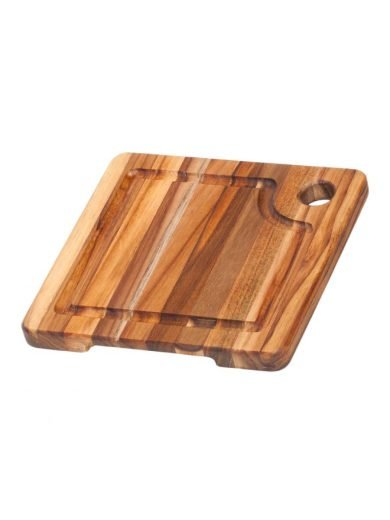 Square Edge Grain Marine Board with Corner Hole and Juice Canal 20,3 x 20,3 x 1,9 cm