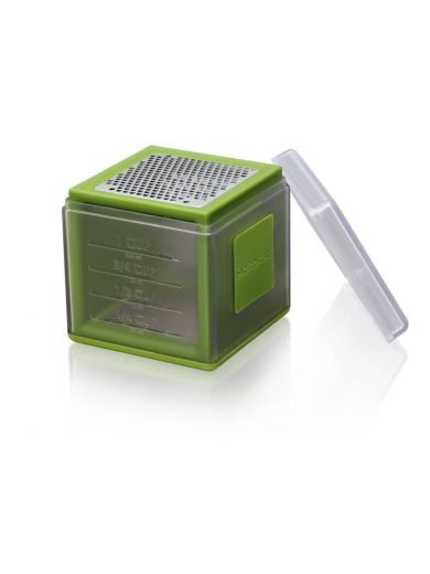 Microplane Cube Grater Green, Τρίφτης 3 όψεων με Μέτρηση Ποσότητας