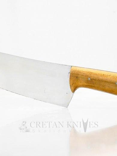 Χειροποίητο Μαχαίρι Chef 18 εκ, Ανοξείδωτη Λεπίδα και Λαβή από ξύλο Ελιάς. CretanKnives Skalidakis