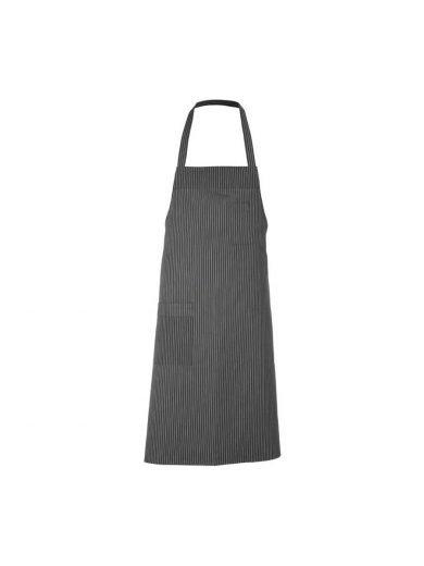 Ποδιά ολόσωμη γκρι με ρίγες 100% βαμβακερή Bib Grey