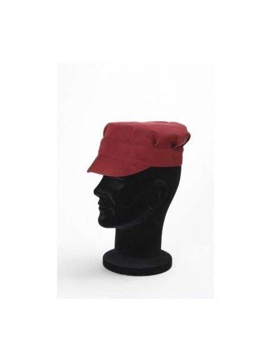 Καπέλο σεφ μπορντώ συνθετικό Tommy Bordeaux
