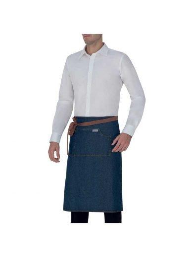 Giblor's Ποδιά Μέσης Shannon Blue Jeans Μπλε