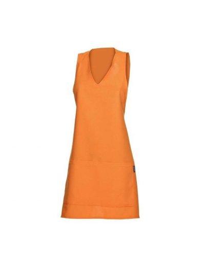 Ποδιά ολόσωμη service γυναικεία πορτοκαλί συνθετική London