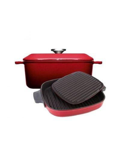 Woll Σετ Xύτρα Και Γκριλιέρα Chili Red Iron 2 τμχ