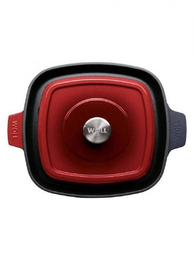 Γκριλιέρα μαντεμένια επισμαλτωμένη με πρέσσα ψησίματος κόκκινη 24x24 εκατ. Chili Red Iron