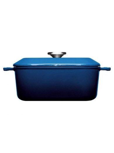 Χύτρα μαντεμένια 4.1 λτ. επισμαλτωμένη τετράγωνη μπλε 24x24 εκατ. Cobalt Blue Iron