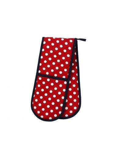 Dexam Γάντι Polka Διπλό Βαμβακερό Κόκκινο