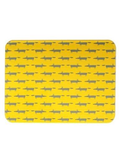 Dexam Επιφάνεια κοπής γυάλινη 30x40 εκατ. Scion Living Mr Fox Yellow