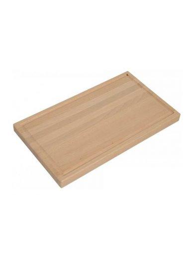 Drevotvar Επιφάνεια κοπής με αυλάκι από ξύλο οξιάς, 40x30x2.2 εκατ.