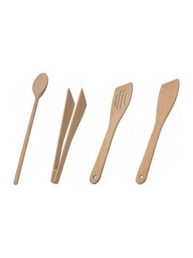 Drevotvar Εργαλεία κουζίνας από ξύλο οξιάς σετ 4 τμχ.