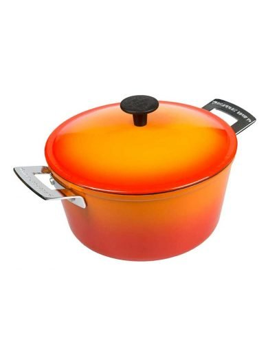 Ronneby Bruk Κατσαρόλα μαντεμένια 4 λτ. με κεραμική επίστρωση πορτοκαλί 24 εκατ. Ceramalj