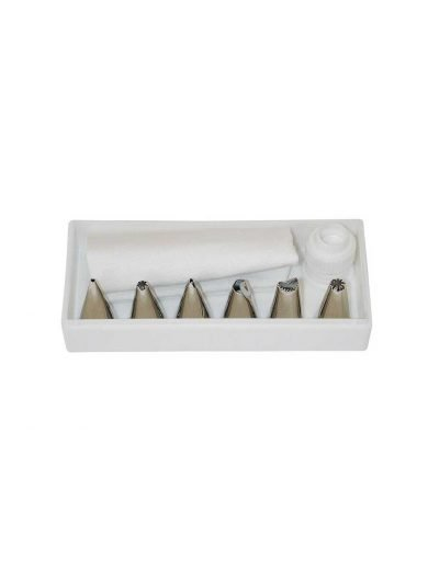 Dexam Κορνέ γαρνιρίσματος μύτες σετ 8 τμχ, με σακούλα, σύνδεσμο και κουτί φύλαξης