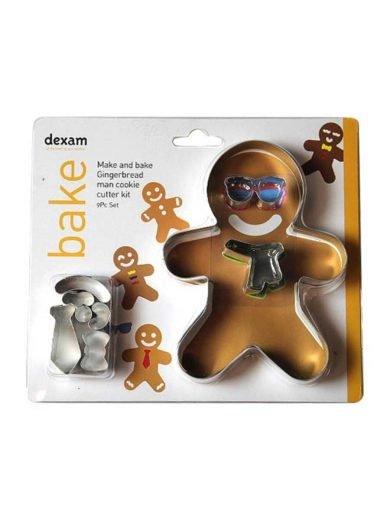 Dexam Κουπ-πατ από λευκοσίδηρο αγόρι σετ 9 τμχ. Gingerbread Man