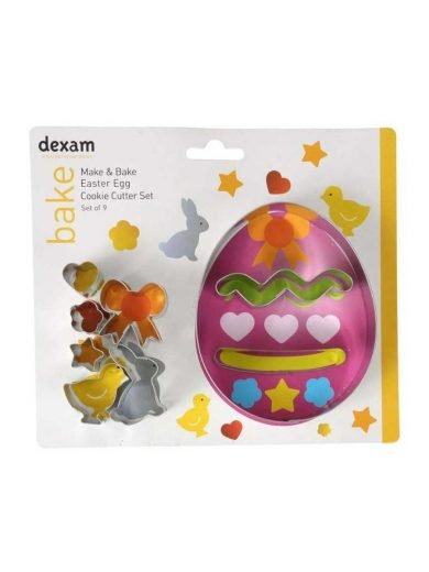 Dexam Κουπ-πατ από λευκοσίδηρο πασχαλινό αυγό σετ 9 τμχ. Easter Egg