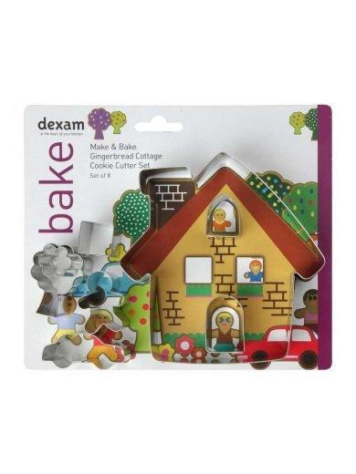 Dexam Κουπ-πατ από λευκοσίδηρο σπίτι σετ 8 τμχ. Gingerbread Cottage