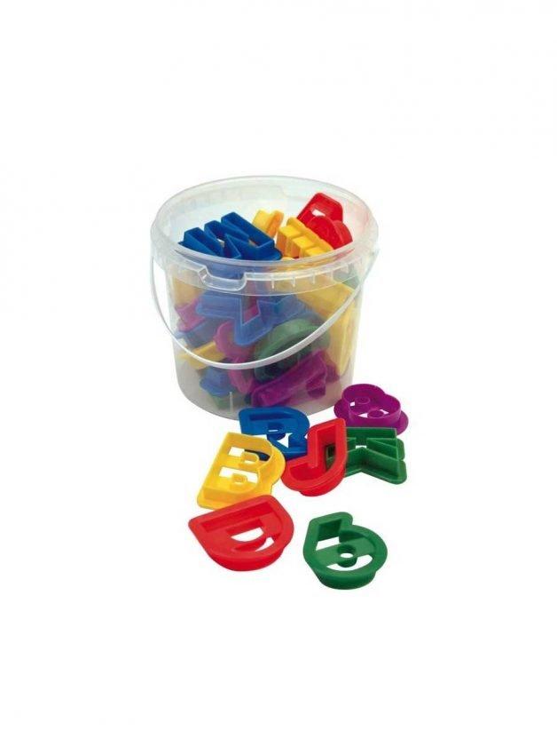 Dexam Κουπ-πατ 26 λατινικά γράμματα και 10 αριθμοί σε πλαστικό δοχείο