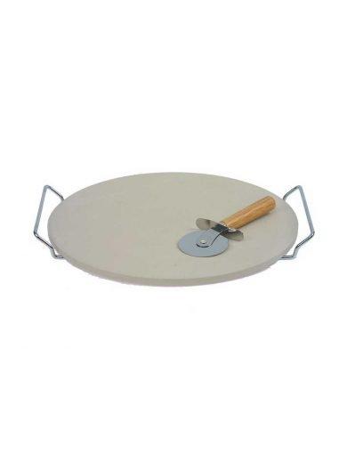 Dexam Πέτρα ψησίματος για πίτσα με βάση χρωμίου και εργαλείο κοπής