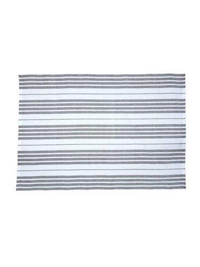 Dexam Πετσέτα Κουζίνας Βαμβακερή 100% Γκρι Ρίγα Slate Grey